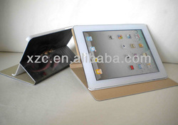 Leather 3D design for ipad cover, for ipad 3 case
