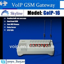 16 ports gsm gateway,goip for call terminal grey route gateway networking device