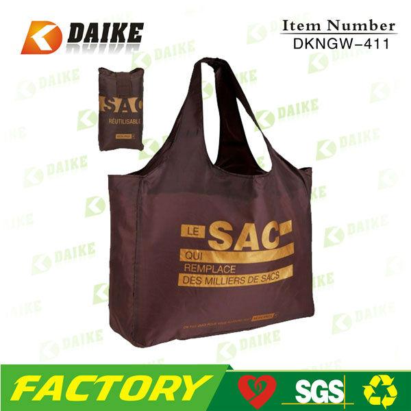 foldable shopping bag, folding bag, nylon bag DKNGW-411
