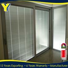 Hot Sale Australian Standard AS 2047 Thermal-break Aluminium with Blinds inside Double Glazing Sliding Door