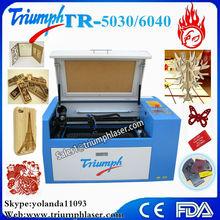mini organic glass laser cutter (ZK-4040-60w)rabbit/mini cnc laser cutting machine for paper