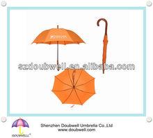 promotional umbrella / curve wooden handle umbrella