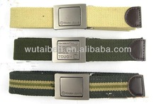 3.5cm with metal buckle and leather military canvas belt