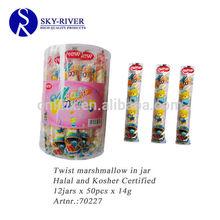 14g halal long twist marshmallow candy