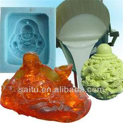 30 Shore A 80000 viscosity translucent liquid mold making HTV high temperature Silicone Rubber