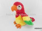 Stuffed plush record talking parrots toys
