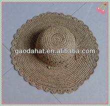 Beautiful Handmade Crochet Straw Hats For Ladies