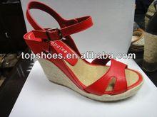 2014 cheap pump heels Hemp rope wedges sandals