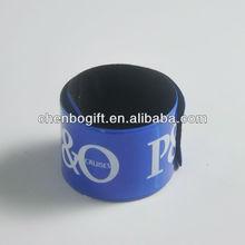 Custom made Reflective pvc slap band,pvc slap bracelet,reler snap bracelets