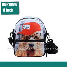 kids messenger bag printed dog children bag manufacturer