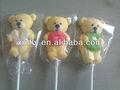 bear em forma de varas de marshmallow pop pirulitos doces
