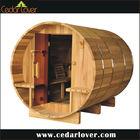 Superior canopy wood outdoor sauna steam room
