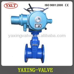 Cast iron gate valve bevel gear operated