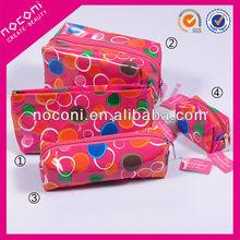 2014 newest colorful circle/heart shape pattern cosmetic bag make up bag ladies bag