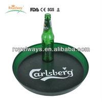 Dia 34cm hot sale round plastic anti-slip tray with printing