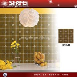 Glass stone mosaic wall tile