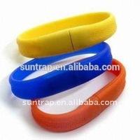Professional USB Factory Logo Printed Colorful Bracelet USB Flash Drive