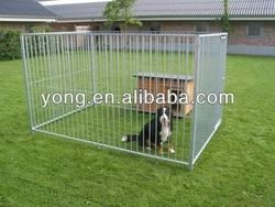 Galvanized metal outdoor dog fence