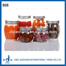 300ml high quanlity wholesale glass jam/honey jar with tin cap lid