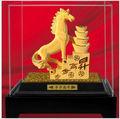 Acqua avanzate tecniche di doratura oro 24k arte regalo- vendita calda- regalo lavoro macchiato di metallo ferro di cavallo di ferro di cavallo scultura arte