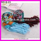 Winer long 2014 fashion jacquard knitting pattern tassel ladies shawls