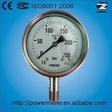 (YBF-100) 100mm all stainless steel oil filled pressure digital tire pressure gauge manometer design by CE ISO KS
