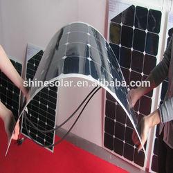 12V flexible solar panel for car, boat , semi-flexible module