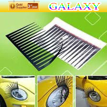 2014 new arrival enhanced glue 3d car headlight eyelashes make your car stand out and a twinkle in her eyes