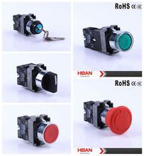 CE ROHS (22mm) key push button switch