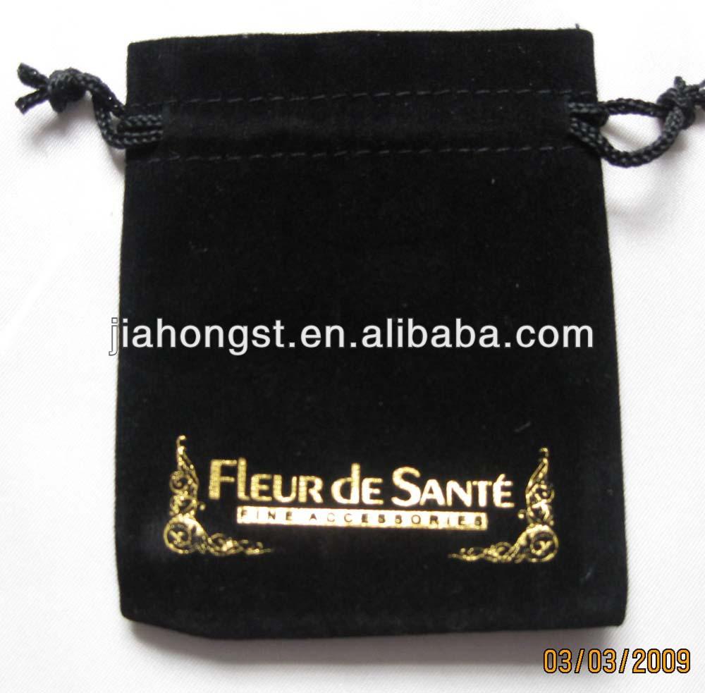 Velvet gift bag with logo