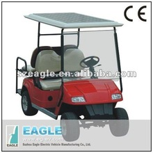 Solar electric car, 185W built in solar panel on golf car, 15% more range