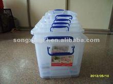 Multi function plastic storage box container