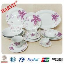 47pcs Tableware Set Porcelain/Latest Dinner Set With Popular Design/Restaurant Hotel Decal Germany Porcelain Dinnerware Sets