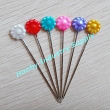 55mm Bulk Decorative Flower Plastic Head Stick Hijab Pearl Head Pin