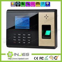 Professional TCP/IP port TFT color screen biometric wall clock system with 1000 fingerprint capacity