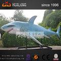 tiburón 3d para juegos de agua de mar animatronic de los animales