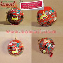 Handpainted Desert Xmas - Holiday Decoration Ball Jungle Life - Paper Mache