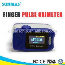 Sunmas hot Medical testing equipment DS-FS20A oximeter finger