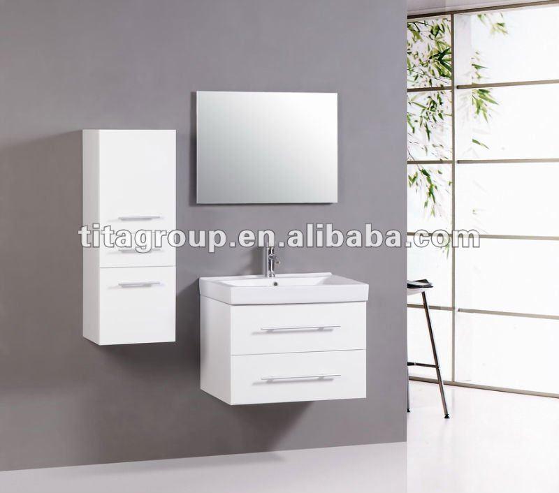 Ce de alto brillo muebles de ba o blanco t9004 tocadores - Muebles altos de bano ...