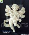 Resina músicos ángel religioso de pared artesanías de recuerdo