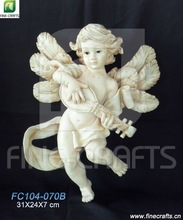Resin musicians angel religious wall crafts souvenir
