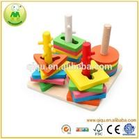 Math Shape Geometric Educational Wooden Block Set