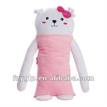 Cozy Endearing and Kawaii Plush Stuffed pink dog body Transforming Pillow Pad For Children's Day