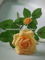 dekoratif yapay çiçek küçük yapay gül çelenk yapay için topları yükseldi düğün dekorasyon
