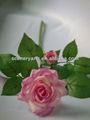 artificial arranjos de flores em vaso de rosas artificiais bolas para a decoração do casamento de seda artificial aberta flor rosa
