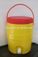 Plastic insulated beverage cooler/ Round Barrel Cooler Box (2Gallon/7.6L)