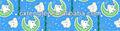 coelho adorável e lua design impressão lençol de tecido para fazer a folha de cama