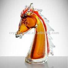 colorful glass sculpture wedding decoration; antique murano glass horse figurines wholesale centerpieces