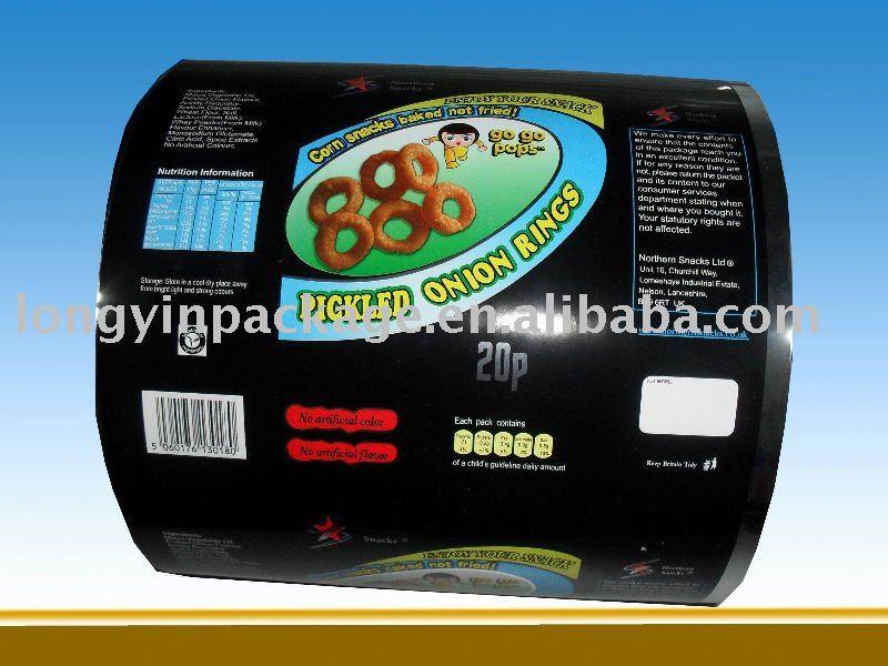 laminated food grade plastic film/food packaging plastic roll film