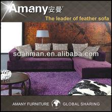 Arab style purple fabric sectional sofa A9636